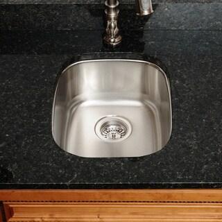 The Polaris Sinks P5181 18-gauge Kitchen Ensemble (Sink, Standard Strainer, Sink Grid, Cutting Board)