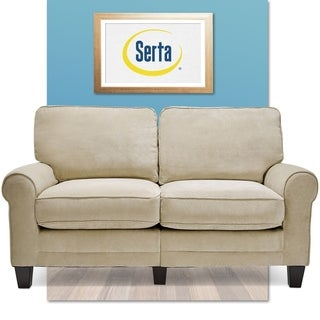 serta rta copenhagen collection 61inch marzipan tan loveseat