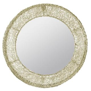 Sersei Aged Goldtone Coiled Wire Mirror