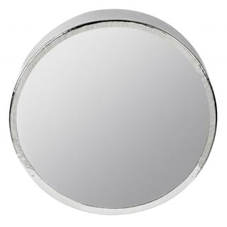Khal Shiny Nickel Round Mirror