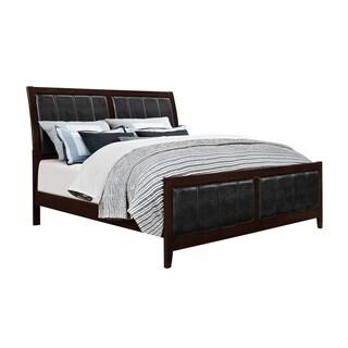 Antique Black/ Black PU Rosa King Bed