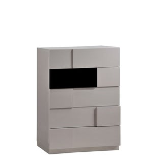 Grey High Gloss and Black Chest