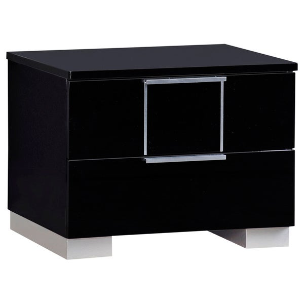 Black High Gloss Nightstand