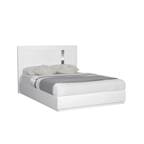 White High Gloss King Bed