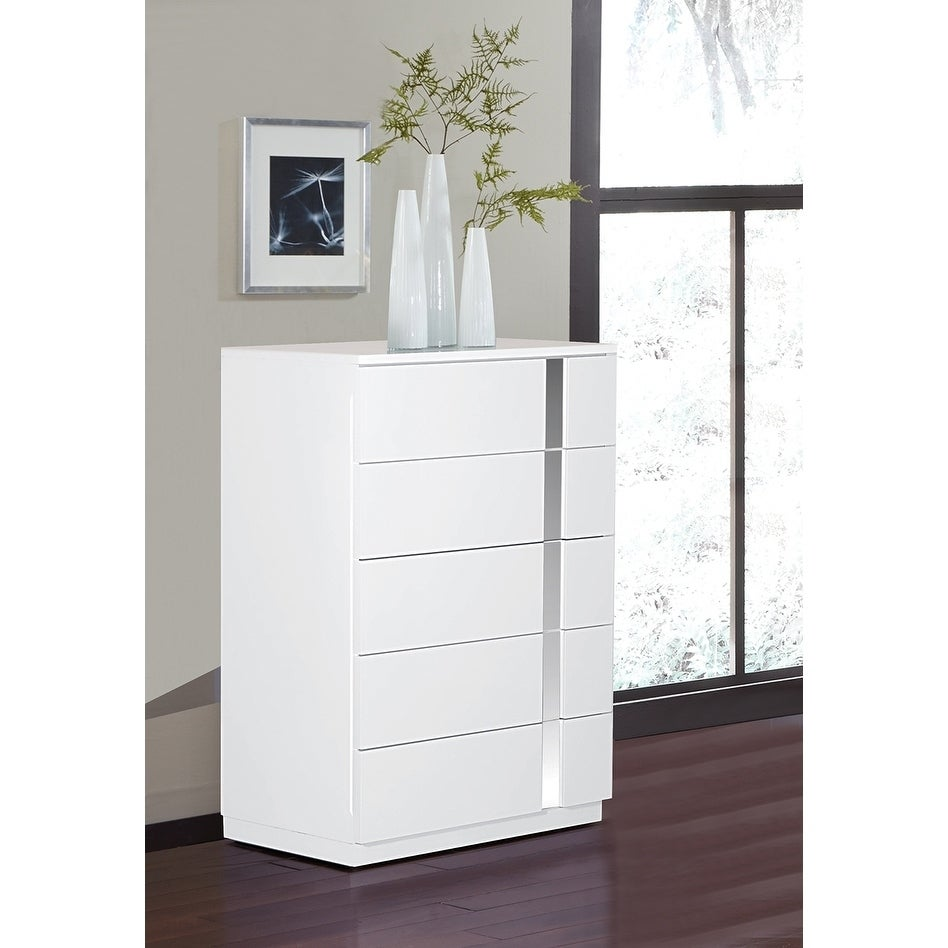 Jody Collection High Gloss Dresser Chest White