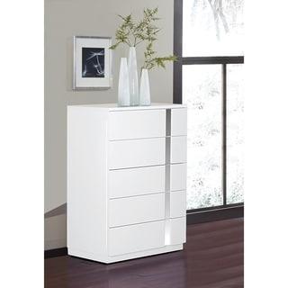 Jody Collection High Gloss Dresser Chest (White)