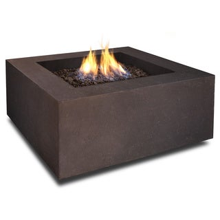 Real Flame Baltic Square Kodiak Brown Square LP Fire Table