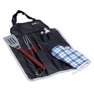 GigaTent BBQ Apron and Utensil Stainless Steel Set