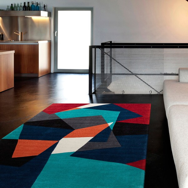 Shop Hand Tufted Abstract Geometric Contemporary Area Rug