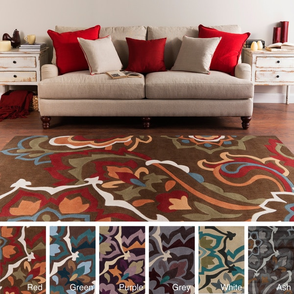 Hand-tufted Floral Contemporary Area Rug - 8' x 11'