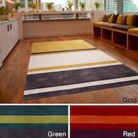 Hand-tufted Stripe Contemporary Area Rug - 9' x 13'