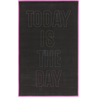 PEPPER Hand-woven Today Black Area Rug (8' x 10')