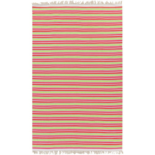 PEPPER Hand-woven Pinky Striped Area Rug (8' x 10') - 8' x 10'