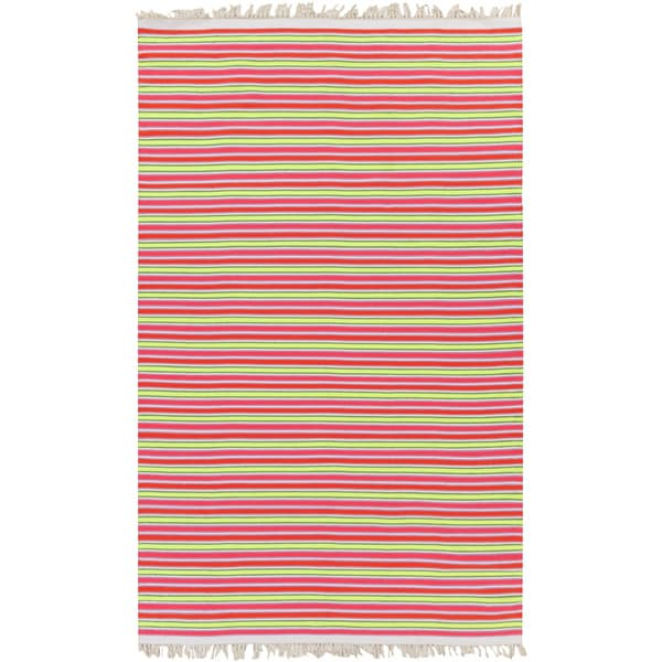 PEPPER Hand-woven Pinky Striped Area Rug - 8' x 10'