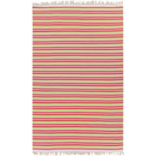 PEPPER Hand-woven Pinky Striped Area Rug (8' x 10')