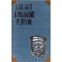PEPPER Hand-woven Blue Morning Person Area Rug (5' x 8')