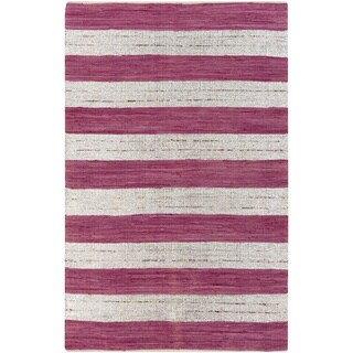 PEPPER Hand-woven Magenta Reversible Area Rug (5' x 8')