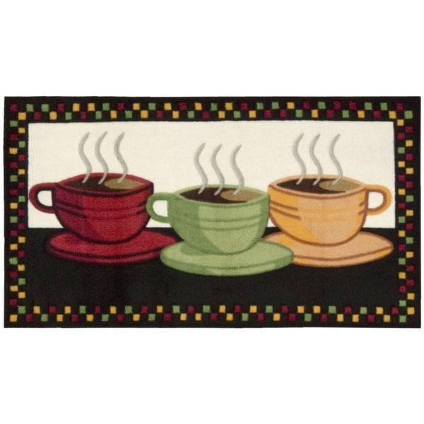 Nourison Accent Decor Black Coffee Trio Rug (1'10 x 3'4)
