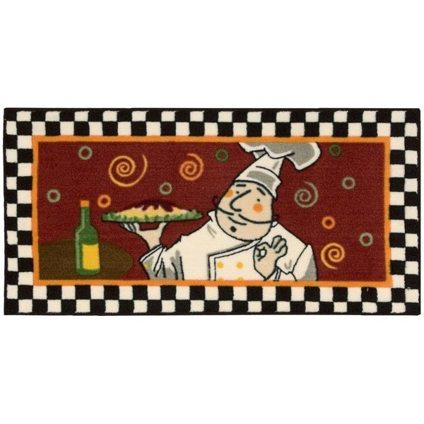 "Nourison Accent Decor Brown Chef Rug (1'10x 3'4) - 1'10"" x 3'4"""