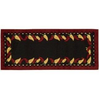 """Nourison Accent Decor Black Rug (1'10 x 4'6) - 1'10"""" x 4'6"""""""