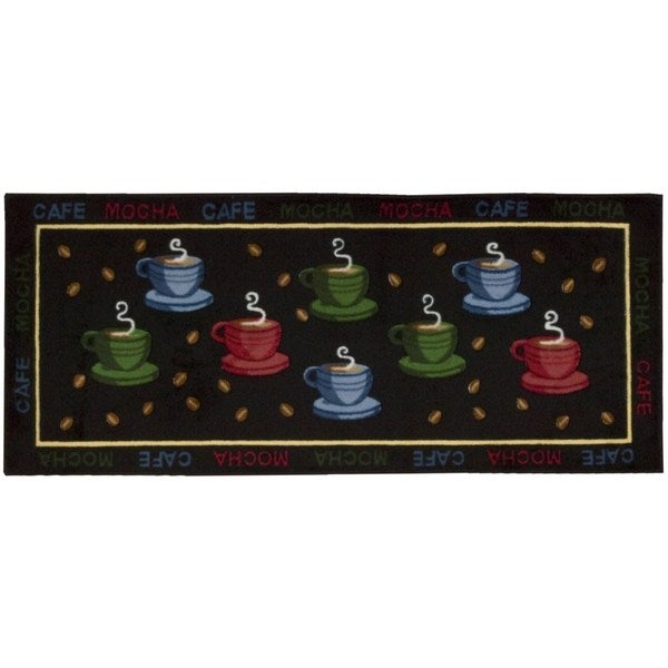 Nourison Accent Decor Coffee Cups Black Rug (1'10 X 4'6