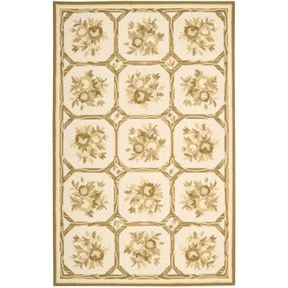 Nourison Country Heritage Ivory/Yellow Rug (5'3 x 8'3)