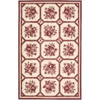 Nourison Country Heritage Ivory/Red Rug - 8' x 11'