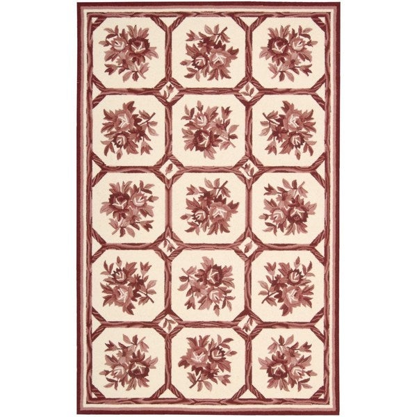 Nourison Country Heritage Ivory/Red Rug (8 x 11) - 8' x 11'