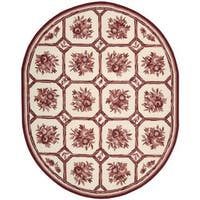Nourison Country Heritage Ivory/Red Rug (7'6 x 7'6 Oval) - 7'6 x 7'6