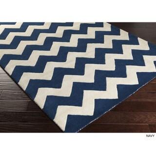 Hand-tufted Missy Chevron Wool Area Rug (7'6 x 9'6)