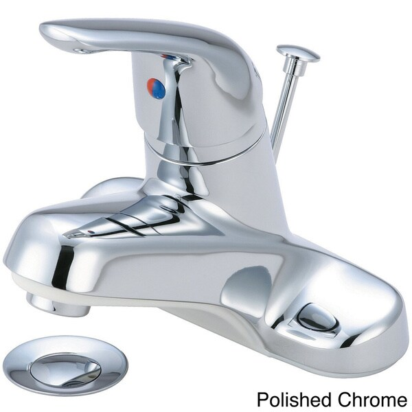 Olympia Series L-6162 Elite Single Handle Lavatory Faucet and Brass ...