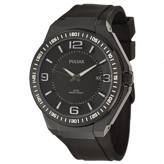 Pulsar Men's 'On The Go' Black Ion-plated Quartz Watch