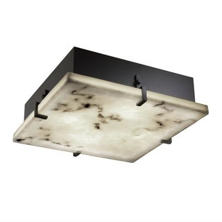 Justice Design Group LumenAria 2-light Matte Black Flush-Mount