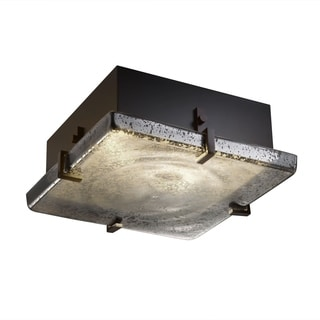 Justice Design Group Fusion Clips 2-light Dark Bronze Flush-Mount