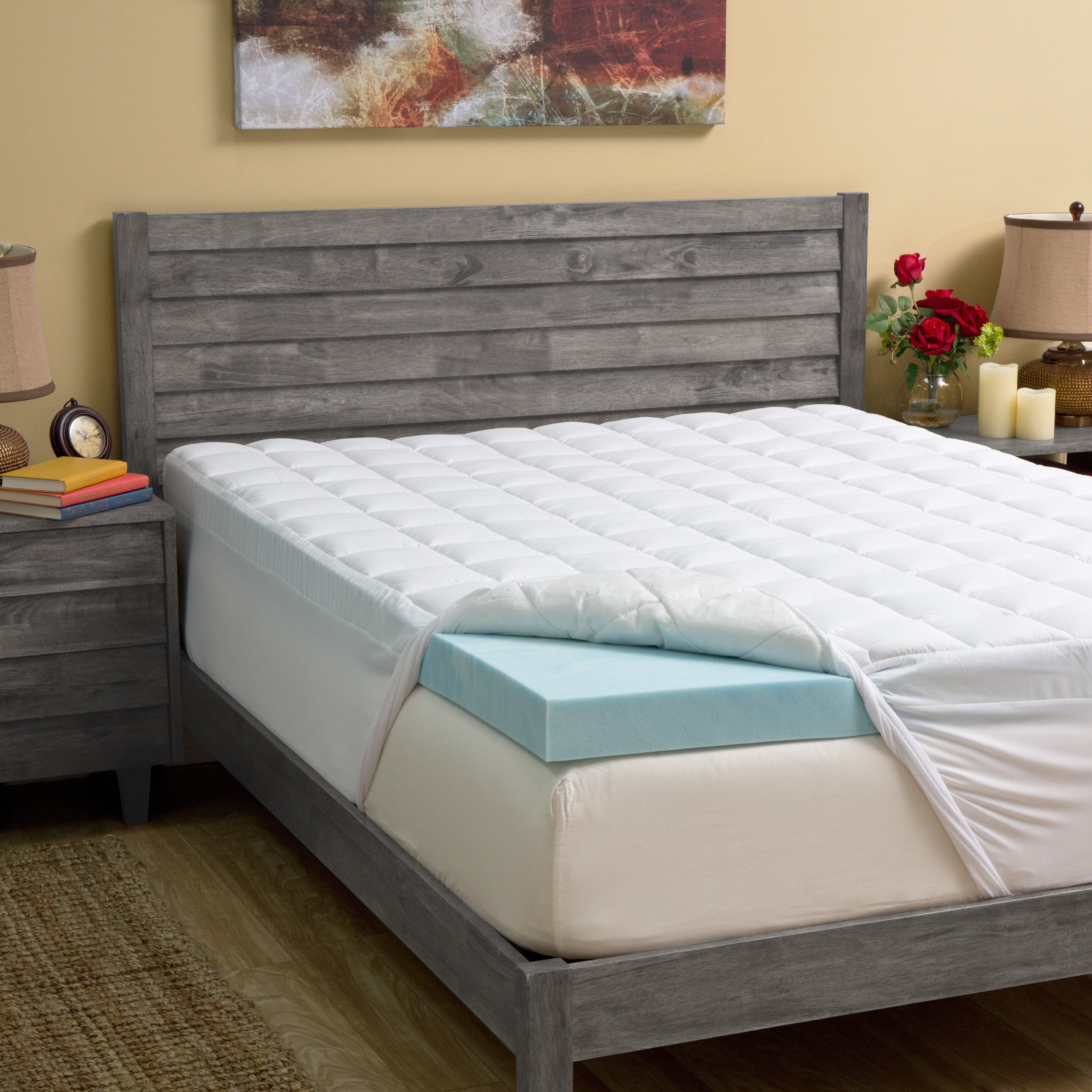 Grande Hotel Collection 4.5-inch Gel Memory Foam and Fibe...