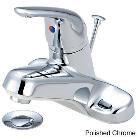Olympia Series L-6160 Elite Single Handle Lavatory Faucet and Pop-Up Drain Assembly
