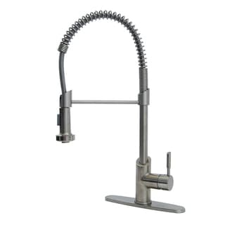 Fontaine Brushed Nickel Modern European Residential Spring Kitchen Faucet