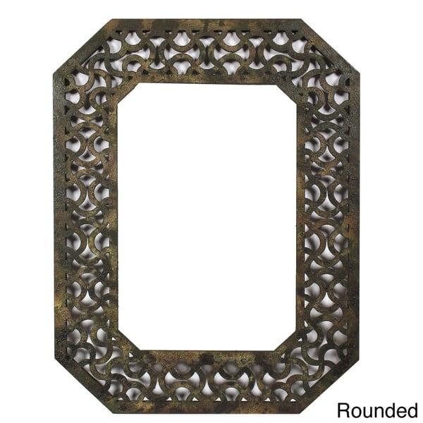 Handmade Distressed Wooden Filigree Framed Wall Mirror China