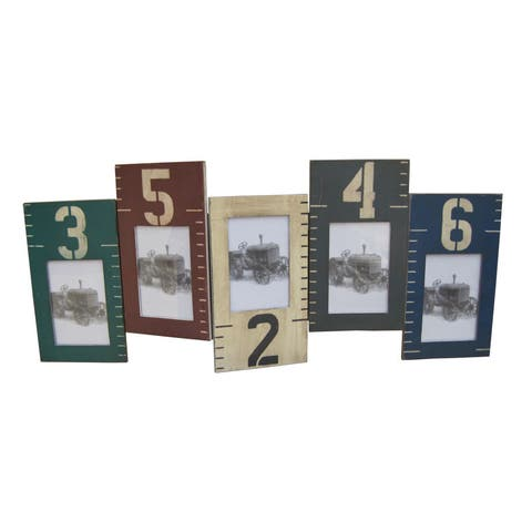 2 Wooden multi color picture frame - 33 x 20
