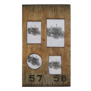 Handmade Set of 2 Ruler Design Wooden Photo Frames (China)