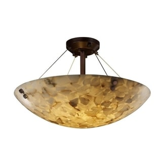 Justice Design Group Alabaster Rocks 6-light Dark Bronze Semi-flush