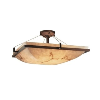 Justice Design Group LumenAria 3-light Ring Dark Bronze Semi-flush