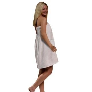 Women's Spa and Bath Terry Cloth Towel Wrap - White