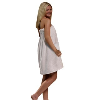 Women's Spa and Bath White Terry Cloth Towel Wrap