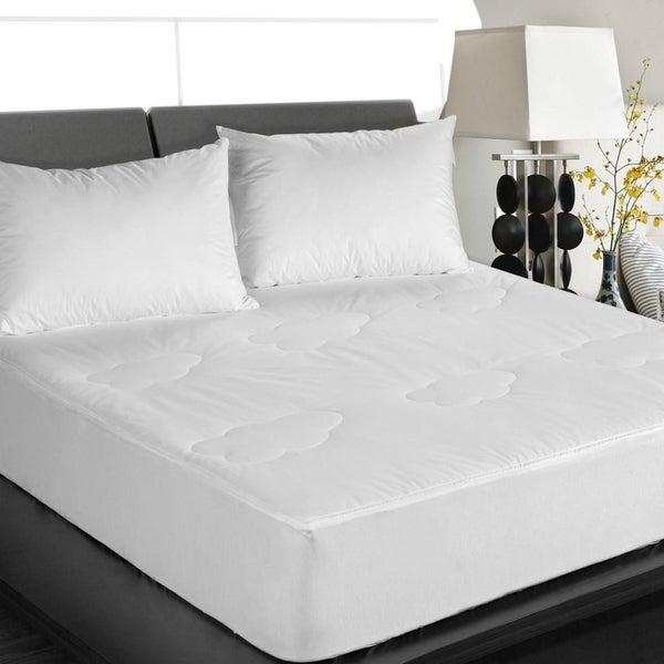 Cottonloft All Natural Down Alternative Cotton Mattress Pad - White