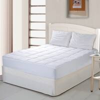 Cottonloft Self Cooling 100% Cotton Mattress Pad, 100% Cotton Fill and Cover - White