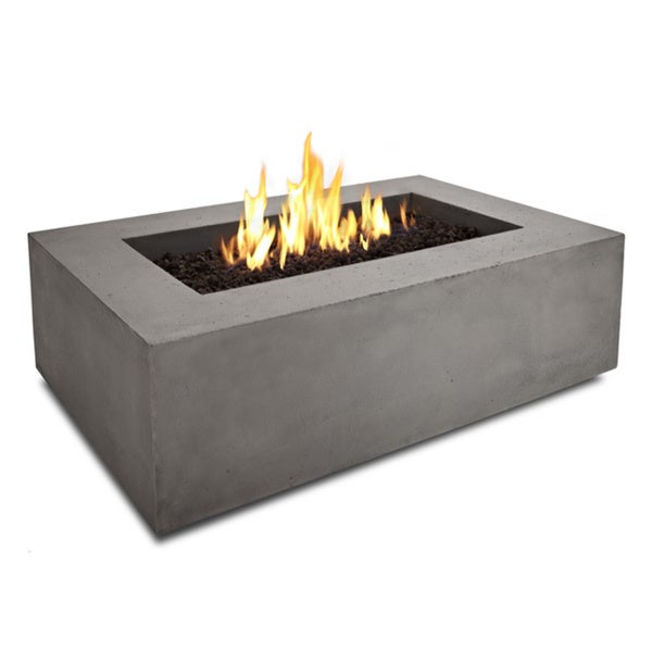 Real Flame Baltic Glacier Grey 50.5 in. L x 32.25 in. W x 15.5 in. H Rectangle Natural Gas Fire Table