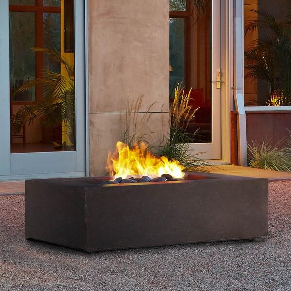 Real Flame Baltic Natural Gas Fire Table Kodiak Brown
