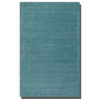 Uttermost Rhine Cerulean Blue Wool Rug (5' x 8')