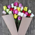 The Bouqs Volcano Collection 'Confetti' Deluxe Roses Flower Bouquet